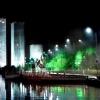 Міський нічний пейзаж через об'єктив