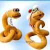 Мк: шиття змійок