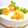 Персиковий чізкейк без випічки