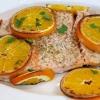 Сьомга, запечена з апельсинами