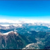 Вершина aiguille du midi - 3842 метри над рівнем моря