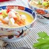 Суп «тому ям» на кокосовому молоці з креветками