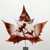 Тонке мистецтво. картини на кленових листках